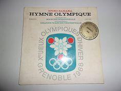 DISQUE-45T-MUSIQUES-OFFICIELLES-JEUX-OLYMPIQUES-GRENOBLE-1968