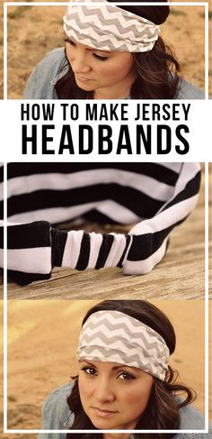 I have the funnest tutorial for you today! Making your own jersey headband is so super easy. In fact, my bestie Jo whipped out about 12 of these in one afternoon! No Slip Headbands, Sewing Headbands, Fabric Headbands, Diy Headband, Flower Headbands, Sewing Crafts, Sewing Projects, Diy Projects, Hair Bow Tutorial