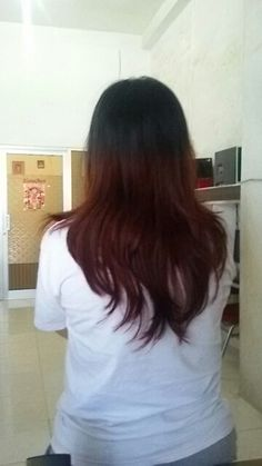 #ombre #hair #red