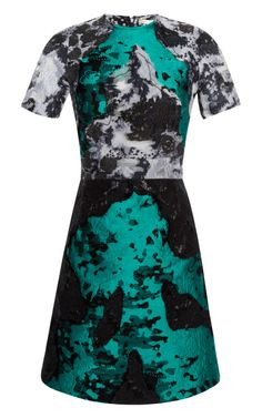 Blue And Green Patchwork Dress by Michael van der Ham for Preorder on Moda Operandi
