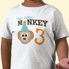Our Little Monkey birthday party t-shirt