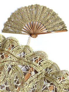 bamboo and lace fan