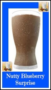 Nutty Blueberry Surprise made with Vegan Chocolate Shakeology. Get your Shakeology for your recipe here: santofitlife.com/nutrition/shakeology #health #nutrition #wellness