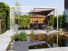 Overkapping on pinterest shade sails tuin and pergolas - Gespannen terras ...