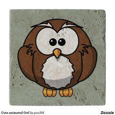 Cute animated Owl Trivets