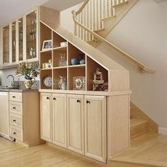 Storage with the stairs...cool use of space