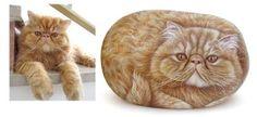 Rock Painting: Cat Portraits