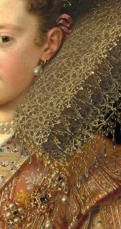 Margherita Gonzaga (1591–1632), Princess of Mantua ~ Frans Pourbus the Younger ~ (Netherlandish, Antwerp 1569–1622 Paris)
