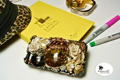 iphone4 handcrafted Swarovski iphone case...one-of-a-kind just like you