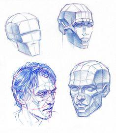 PLANES OF THE HEAD by AbdonJRomero.deviantart.com on @DeviantArt