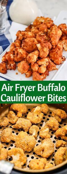 Jan 2020 - These Crispy Air Fryer Buffalo Cauliflower Bites are the perfect appetizer! With no oil and only a handful of ingredients, they're easy and guilt-free. Also find baking directions on the page if you don't have an air fryer! Air Fryer Recipes Vegetables, Air Fryer Recipes Snacks, Air Fryer Recipes Vegetarian, Air Fryer Recipes Breakfast, Cooking Recipes, Easy Recipes, Oven Recipes, Vegetarian Meals, Popular Recipes