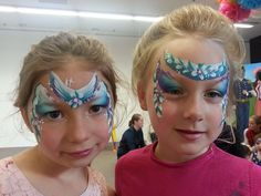 Face Painting by Kristi || adorable masks! Love the colors!