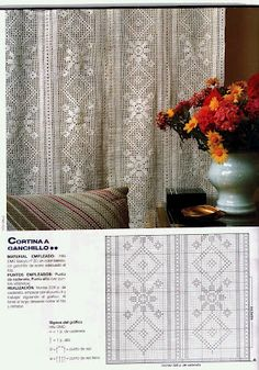 Filet curtain with diagram #2