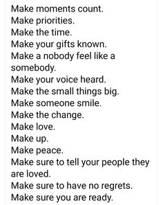 Make Smile, Make Peace, Daddy Daughter, Your Voice, Priorities, To Tell, In This Moment, Make It Yourself, Feelings