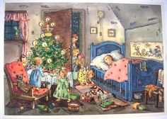 Vintage Christmas Advent CalendarsChristmas by QVintage on Etsy, $30.00