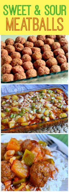 Grandma's Sweet and Sour Meatballs are the ultimate comfort food and can be whipped up in a jiffy!  MomOnTimeout.com