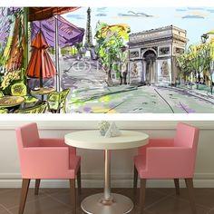 Paris street  illustration  MaMurale.com