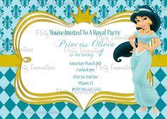 Printable Princess Jasmine Aladdin Birthday by PartyInnovations09, $8.00