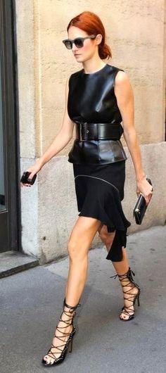 Taylor Tomasi Hill at Fashion week at KG Street Style