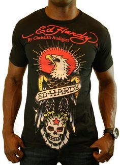 Ed Hardy Christian Audigier Eagle Tattoo Men s T-Shirt Black Size L - In  2004 caf2334cbb7