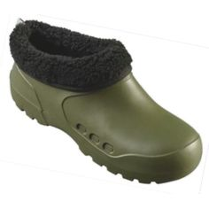 Clog Galosh with Fur Olive Clogs, Fashion, Clog Sandals, Moda, La Mode, Fasion, Fashion Models, Trendy Fashion