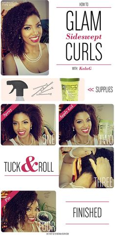 Hair Tutorials : Old Hollywood Curls | Glam Sideswept Tutorial for Curly Hair