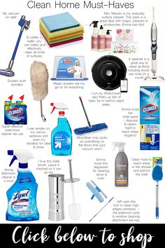 16 Cleaning Supplies & Tools You Can't Live Without - Best deep cleaning routine and cleaning products everyone needs in their home. Disinfect your home!