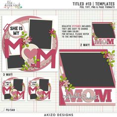 Titled 13 | Templates by Akizo Designs | Digital Scrapbooking