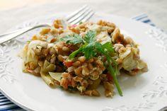 Warm Farro with Roasted Artichoke Hearts, Tomatoes and Leeks | Sarah's Cucina Bella