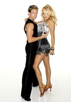 Pam and her dance partner, Dancing with the Stars 2012