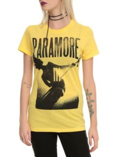 Paramore Hayley Yellow Girls T-Shirt- $22.50 at Hot Topic