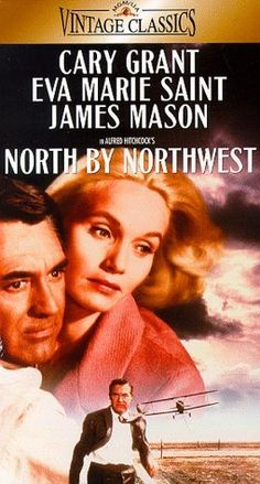 Alfred Hitchcock North By Northwest VHS Cary Grant Eva Marie Saint James Mason Old Movies, Vintage Movies, Eva Marie Saint, North By Northwest, Cary Grant, Woman Movie, Cinema, Great Films, Film Music Books