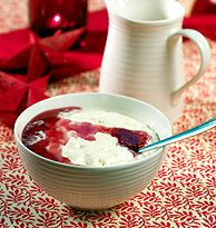 YUM! Try the Norwegian riskrem for dessert - a typical Christmas dessert made from rice and milk/cream, with a red berry sauce on top.