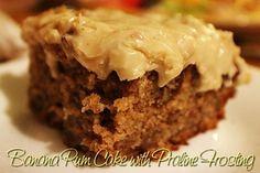 Banana Rum Cake with Praline Frosting - Mom's Kitchen Pantry