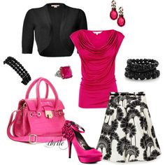 I love black and pink.  Looks like I should go to brunch somewhere!