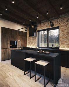 Modern Kitchen Design : Studio: Vae Design Group Designers : Eugene Varkovich Vitalii Savko Location: B Kitchen Dinning, Kitchen And Bath, Kitchen Decor, Asian Kitchen, Dining Room, Küchen Design, House Design, Design Ideas, White Wood Kitchens