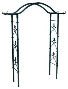 Achla Designs Torii Arbor by Achla. $523.83. Optional feet sold separately for deck or hard surfaces. Ground stakes are included for easy installation. Black powder coated for maximum protection against weather. European hand-forged. Easy slip-in components; no tools necessary. Create an elegant garden entrance with one of achla designs' handcrafted wrought iron arbors. all our arbors are designed to be shipped flat. they are erected using easy-slip components. n...