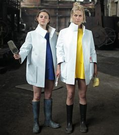 Comradettes by Eldina Begic Denim Overalls, Dungarees, Dezeen, Workwear, Tunic, Clothes For Women, Coat, Jackets, Collection