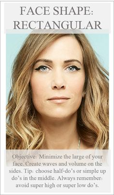 Rectangle face shape DO's