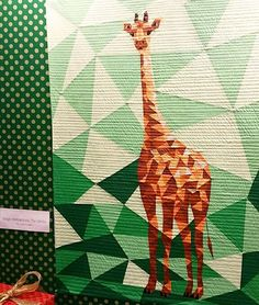 I just cannot get over this giraffe quilt by @violetcraft for @michaelmillerfabrics! So stunning! #quiltmarket #msqcatmarket