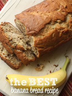 This easy banana bread recipe is awesome! If you're on the hunt for fruit bread recipes, this is the only recipe you need! The best banana bread recipe for sure! And, this makes banana bread - 2 loaves at a time - the best thing to make if you're wondering what to do with ripe bananas! #bananabread #bread #ripebananas