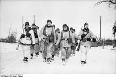 German troops on the Eastern front, January 1944. The Nazis expected many more of them would soon make their final sacrifice.