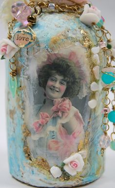 Shabby Chic Bottle Art