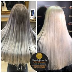 Colour correction by our Designer Natasha.It took 6 and a half hours to achieve this beautiful platinum blonde 😍 #longhair #hair #blonde #platinum #colourcorrection #newhair #hair #pearl #olaplex #shine #pretty #hairenvy #stylistsdoitbetter