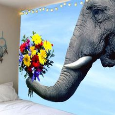 SHARE & Get it FREE | Elephant and Flower Print Wall TapestryFor Fashion Lovers only:80,000+ Items·FREE SHIPPING Join Dresslily: Get YOUR $50 NOW!