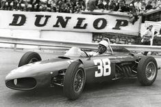 This is Phil Hill launching the Sharknose Ferrari into a corner at the 1962 Monaco F1 Grand Prix, he went on to a second place finish.