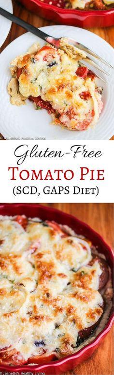 Gluten Free Tomato Pie Recipe Scd Gaps Diet Scented With Fresh Rosemary