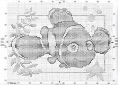 punto de cruz Disney nemo 2