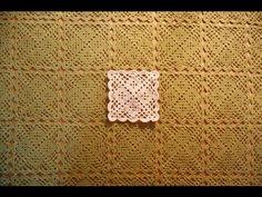 Beautiful crochet square motif Element na szydełkowy obrus