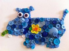 Interesting ideas for decor: Crafts from buttons... Поделки из пуговиц.